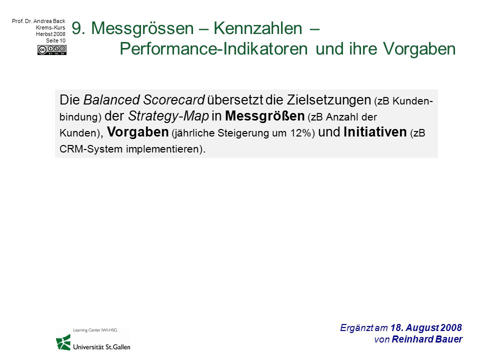 Prof. Dr. Andrea Back Krems-Kurs Herbst 2008 Seite