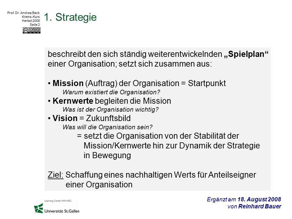 Prof.Dr. Andrea Back Krems-Kurs Herbst 2008 Seite 3 2.