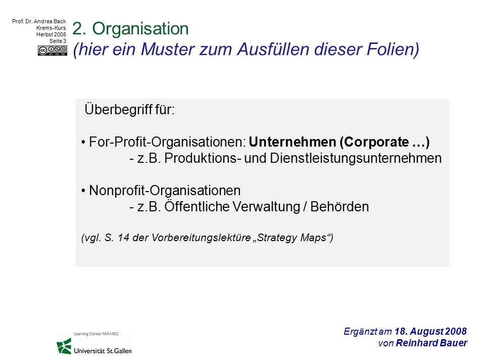 Prof. Dr. Andrea Back Krems-Kurs Herbst 2008 Seite 3 2.