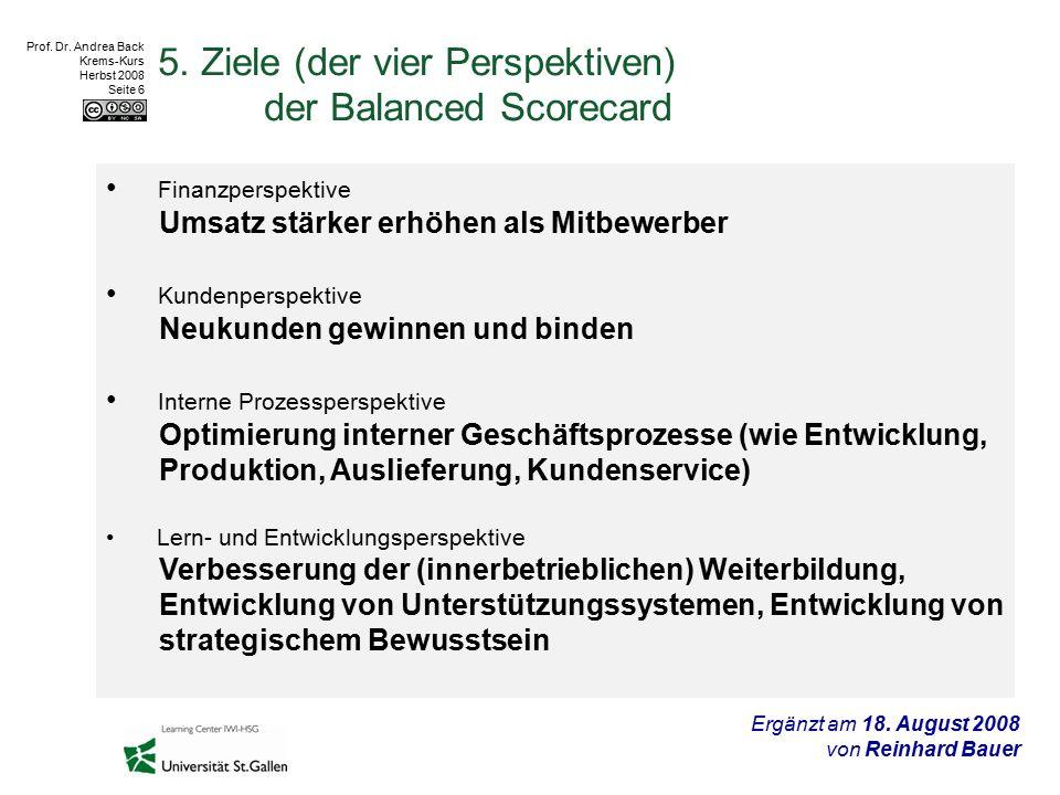 Prof.Dr. Andrea Back Krems-Kurs Herbst 2008 Seite 6 5.