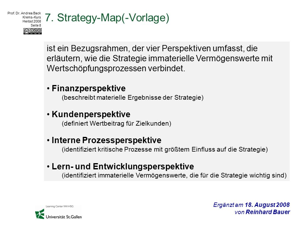 Prof.Dr. Andrea Back Krems-Kurs Herbst 2008 Seite 8 7.