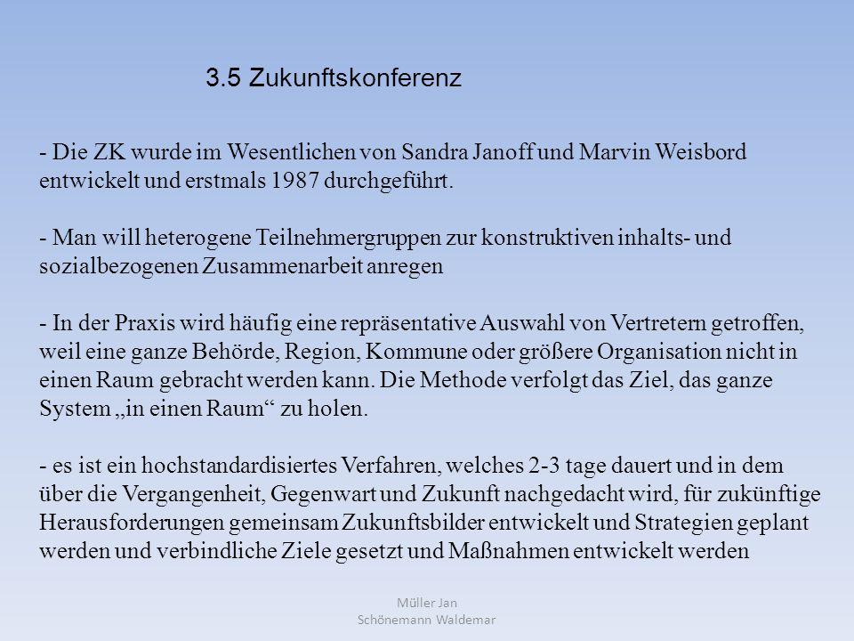 Müller Jan Schönemann Waldemar - Die ZK wurde im Wesentlichen von Sandra Janoff und Marvin Weisbord entwickelt und erstmals 1987 durchgeführt.
