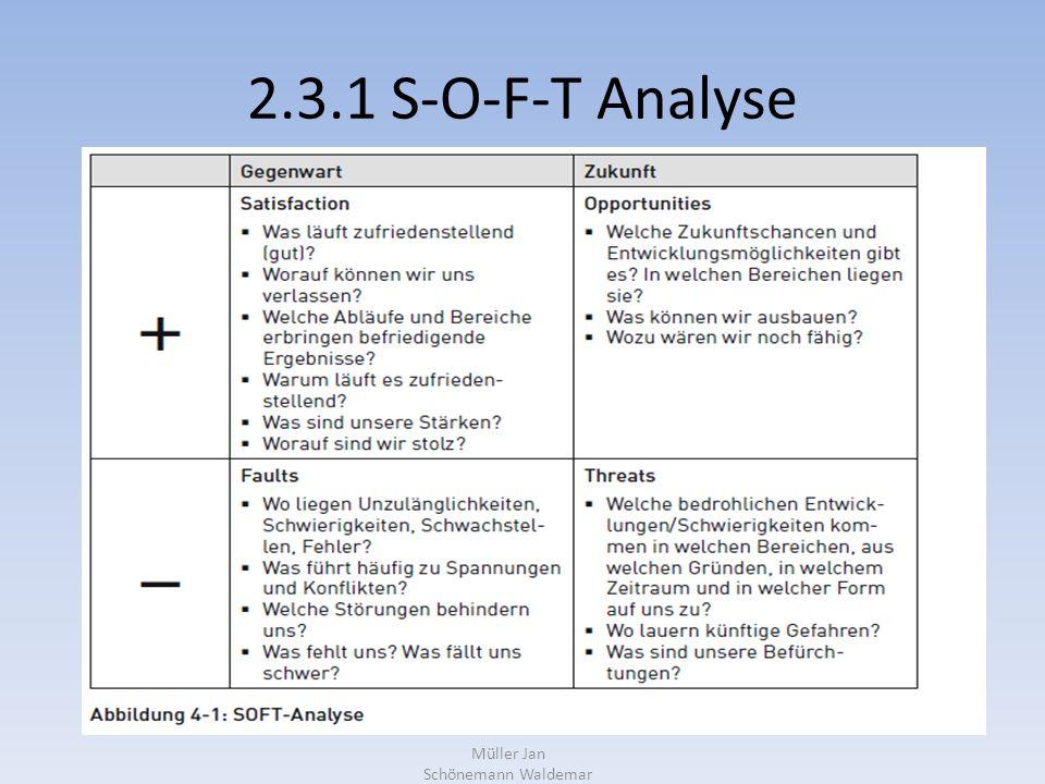 2.3.1 S-O-F-T Analyse Müller Jan Schönemann Waldemar