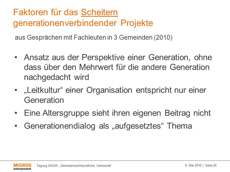 """Tagung SAGW, """"Generationenfreundliche Gemeinde 6."""