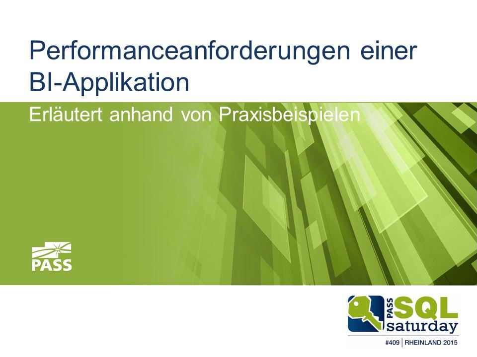 Performanceanforderungen einer BI-Applikation Erläutert anhand von Praxisbeispielen