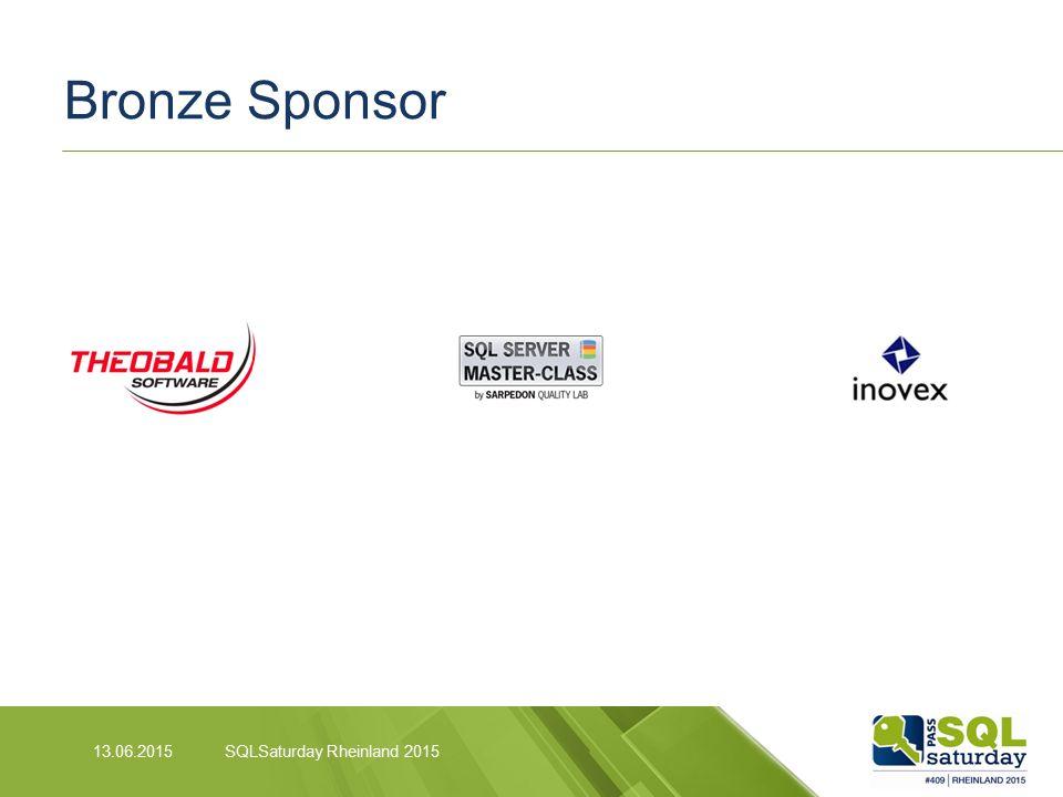 Bronze Sponsor SQLSaturday Rheinland 201513.06.2015