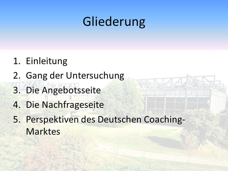 """Perspektiven des Deutschen Coaching-Marktes Wird Coaching seinen """"Siegeszug fortsetzen."""