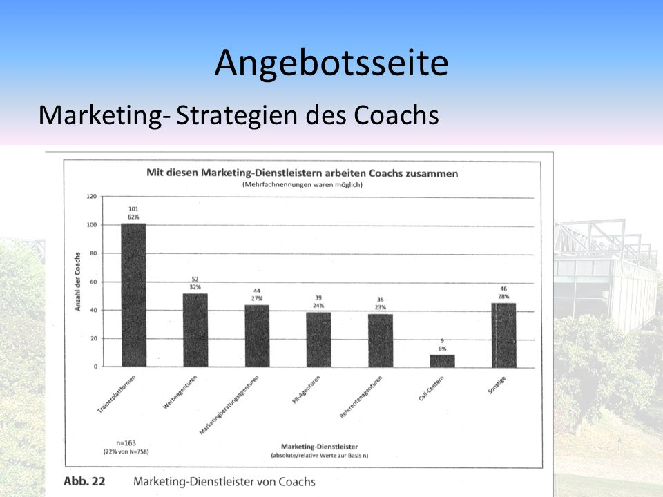 Angebotsseite Marketing- Strategien des Coachs