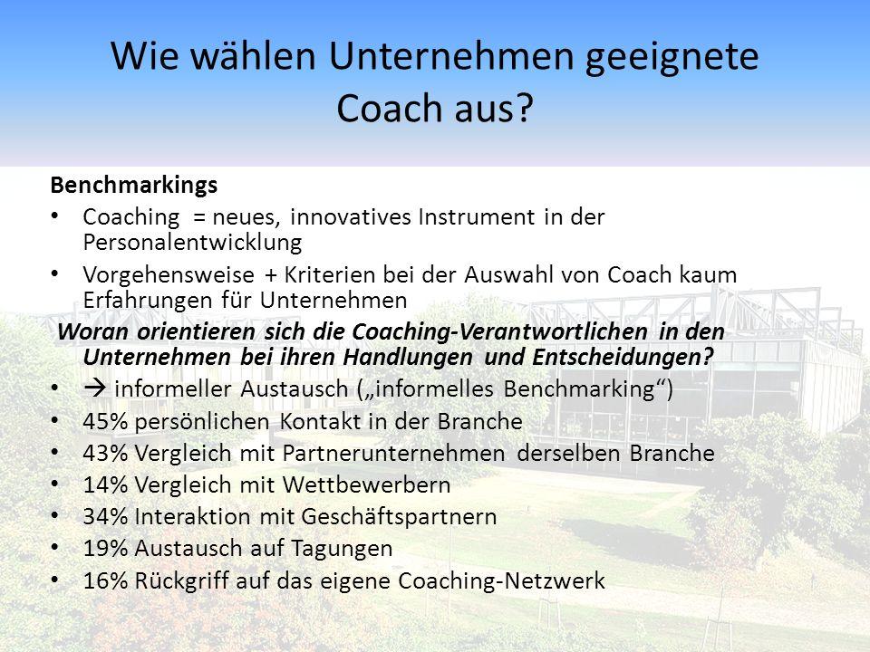 Wie wählen Unternehmen geeignete Coach aus.