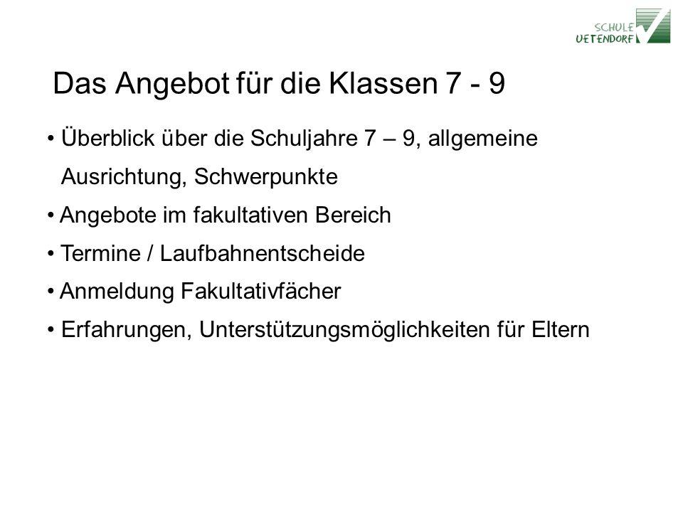 KKO 7. Kl. RealSekSpez.Sek Die Klassen 7. - 9. Schuljahr 8. Kl. 9. Kl. GU9 2009 2010 2011