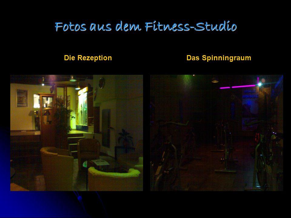 Fotos aus dem Fitness-Studio Die RezeptionDas Spinningraum