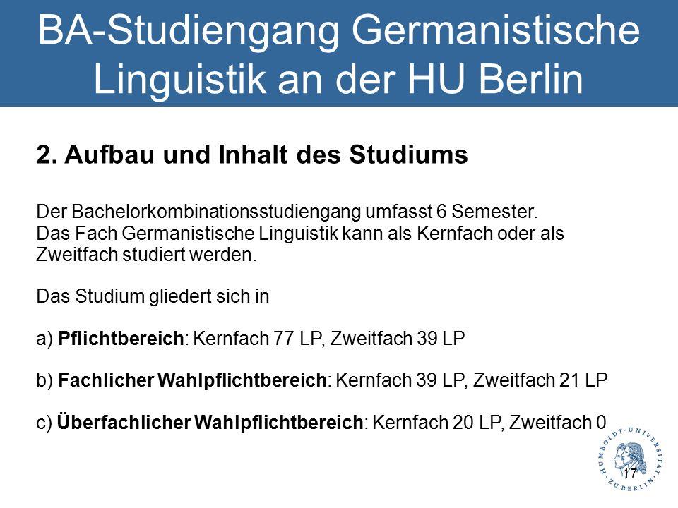 BA-Studiengang Germanistische Linguistik an der HU Berlin 2.