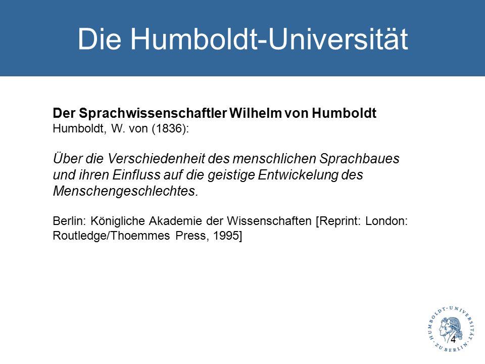 Die Humboldt-Universität Der Sprachwissenschaftler Wilhelm von Humboldt Humboldt, W.