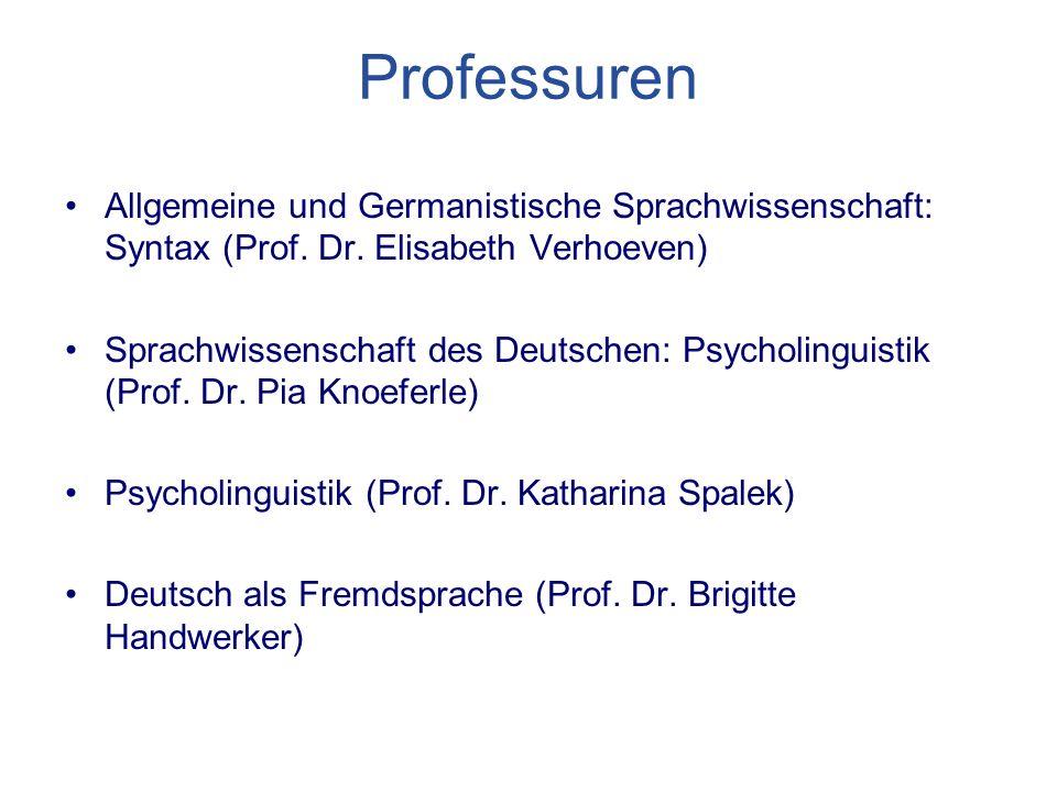 Professuren Allgemeine und Germanistische Sprachwissenschaft: Syntax (Prof.