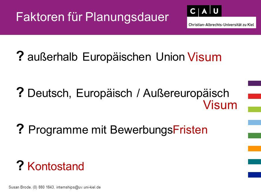 Faktoren für Planungsdauer . außerhalb Europäischen Union .