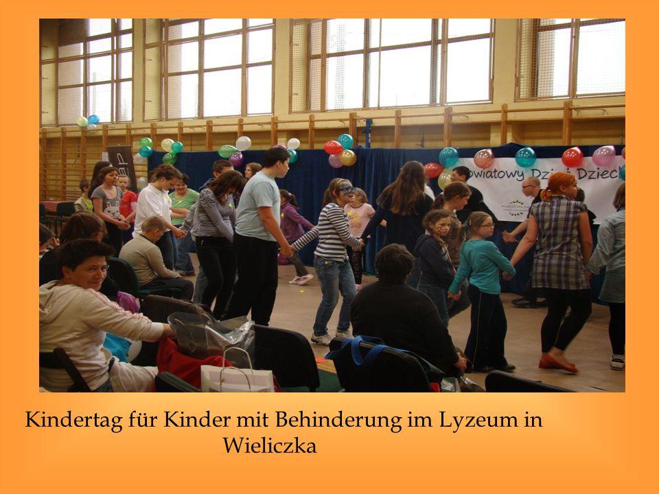 Kindertag für Kinder mit Behinderung im Lyzeum in Wieliczka