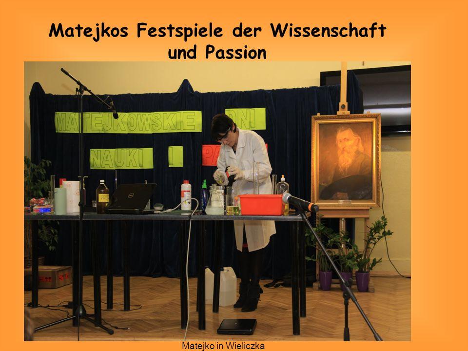 Allgemeinbildendes Lyzeum Jan Matejko in Wieliczka Matejkos Festspiele der Wissenschaft und Passion
