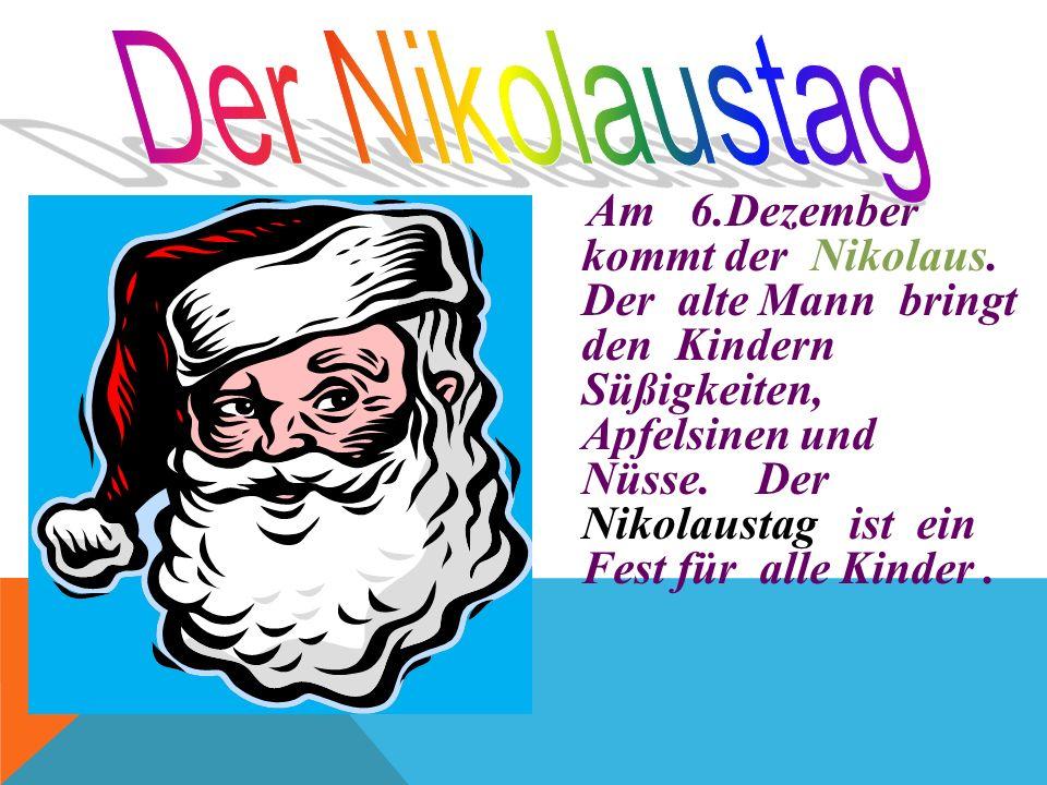 Weihnachten ist ein großes Familienfest, man feiert es im Kreise der Familie. In Deutschland wird dieses Fest am 25./26. Dezember gefeiert. Am 24. Dez
