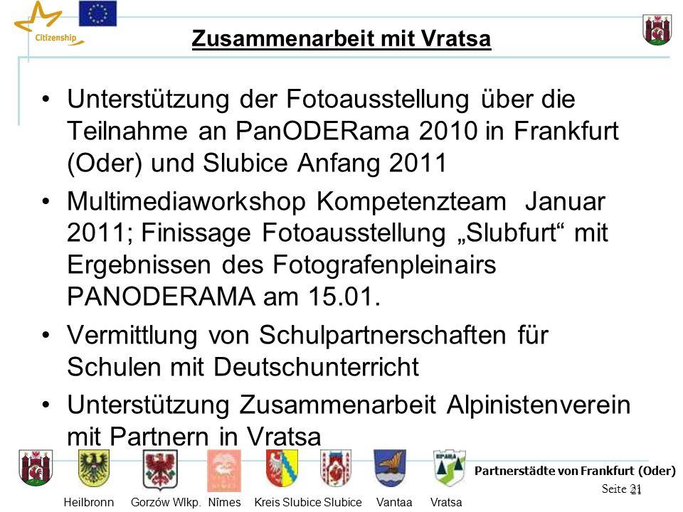 21 Seite 21 Partnerstädte von Frankfurt (Oder) Heilbronn Gorzów Wlkp.