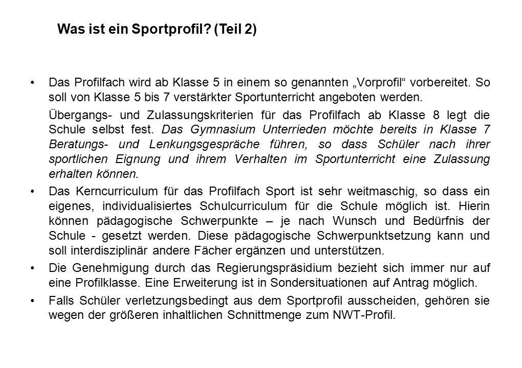 Was ist ein Sportprofil.(Teil 3) Kooperationen mit den örtlichen Vereinen sind erwünscht.