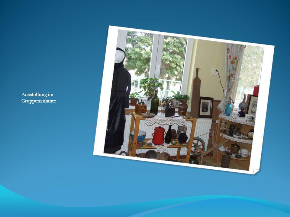 Ausstellung im Gruppenzimmer