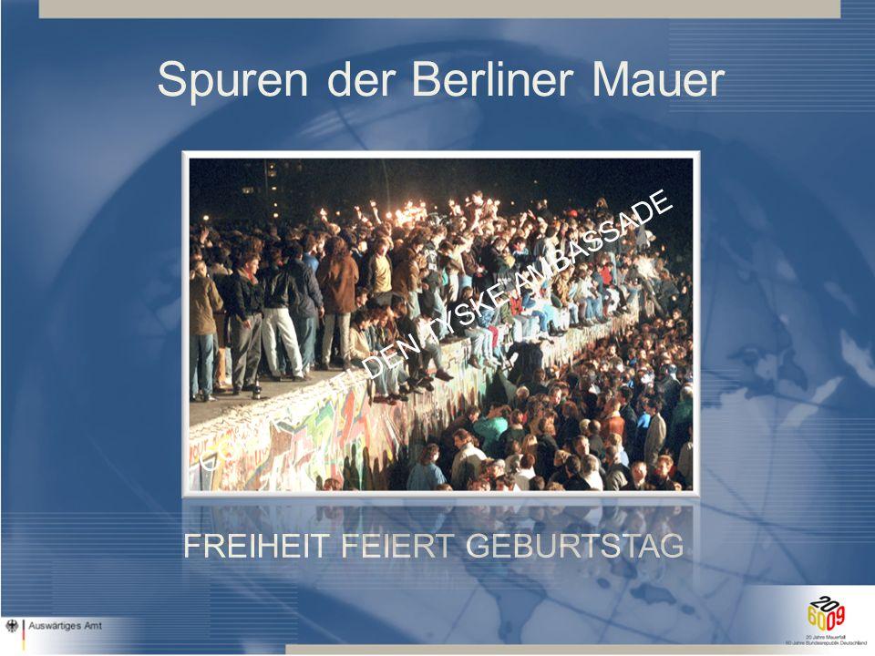Deutsche Botschaft Kopenhagen 2009 Fall der Berliner Mauer am 9.