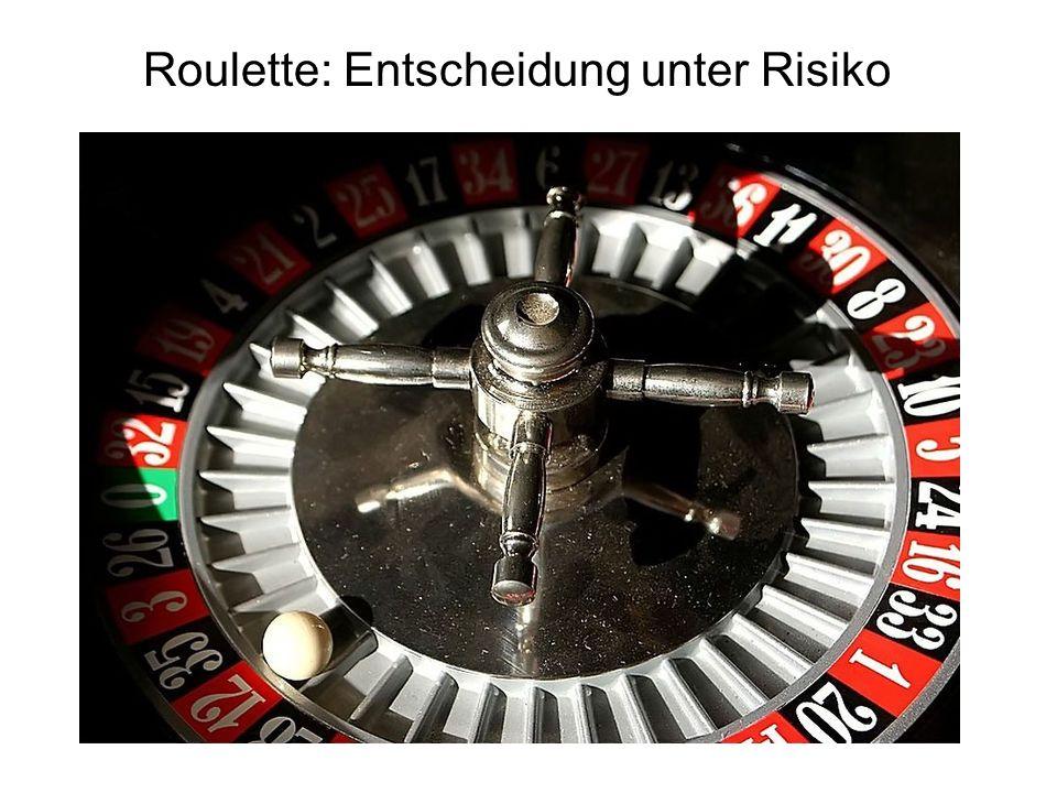 Roulette: Entscheidung unter Risiko