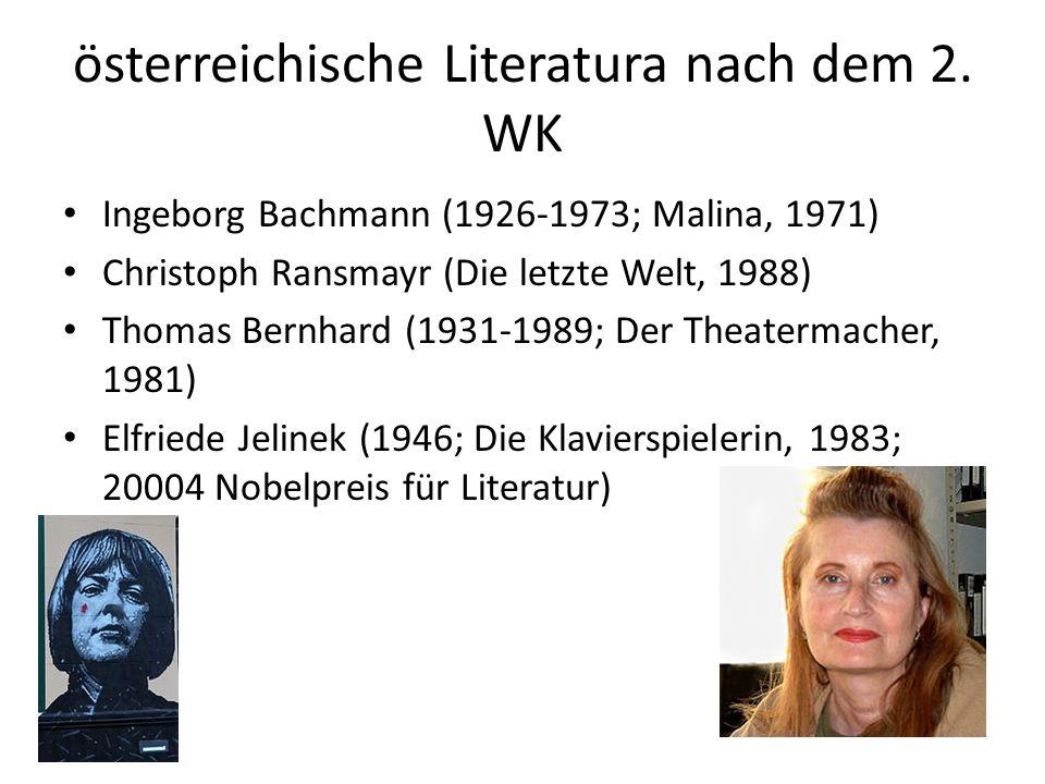 österreichische Literatura nach dem 2.