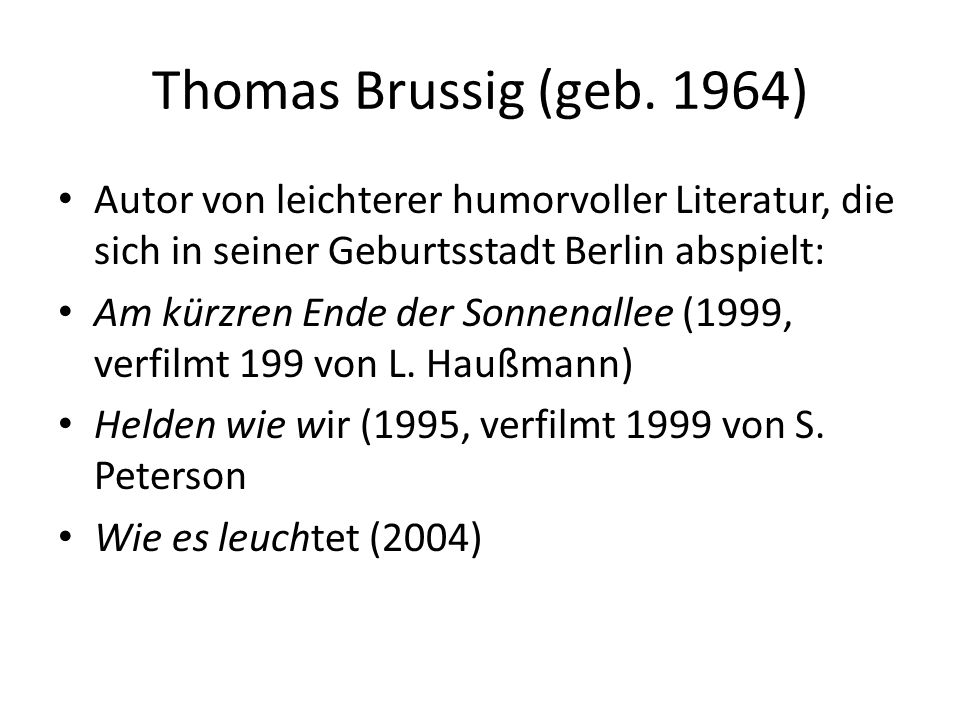 Thomas Brussig (geb.
