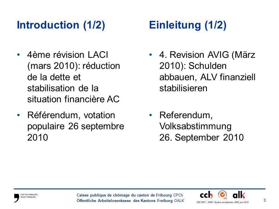 24 Caisse publique de chômage du canton de Fribourg CPCh Öffentliche Arbeitslosenkasse des Kantons Freiburg OALK ISO 9001 : 2008 – System certification, SGS, juin 2010 Fin de droits : que se passe-t-il .