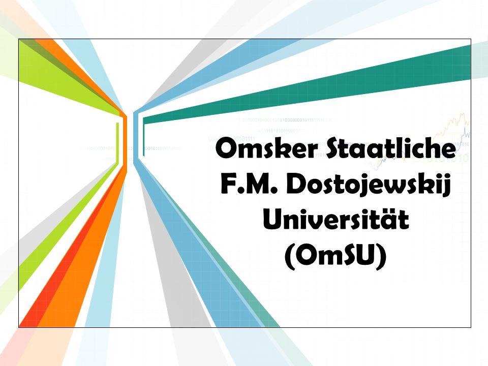 L/O/G/O www.themegallery.com Omsker Staatliche F.M. Dostojewskij Universität (OmSU)