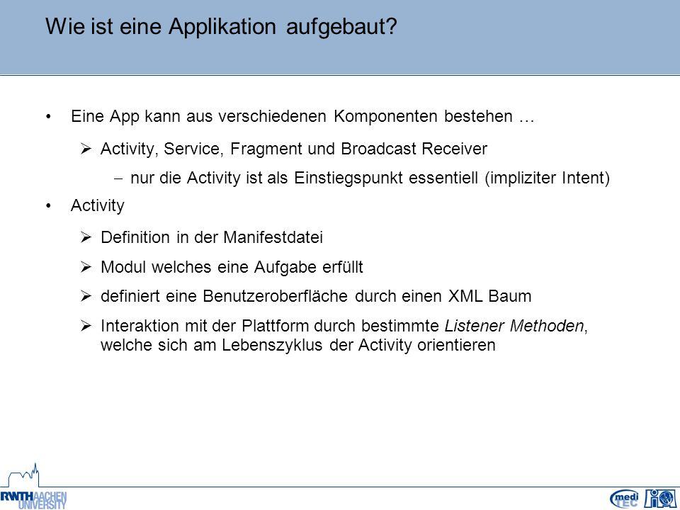 Wie ist eine Applikation aufgebaut.