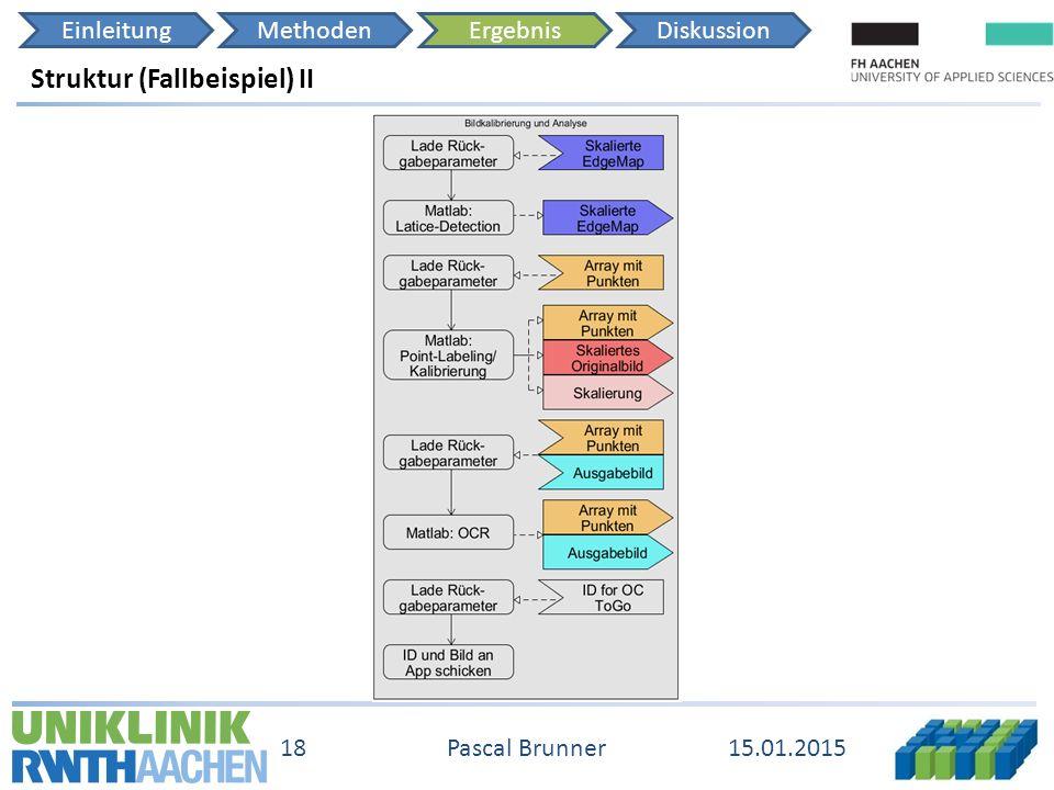 EinleitungMethodenErgebnisDiskussion 15.01.2015 18 Pascal Brunner Struktur (Fallbeispiel) II