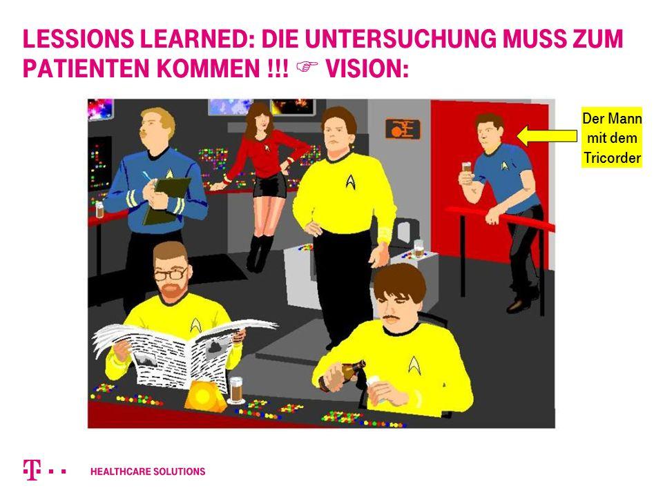 Lessions learned: Die Untersuchung muss zum Patienten kommen !!.