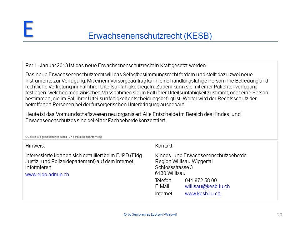 20 Hinweis: Interessierte können sich detailliert beim EJPD (Eidg. Justiz- und Polizeidepartement) auf dem Internet informieren. www.ejdp.admin.ch Erw