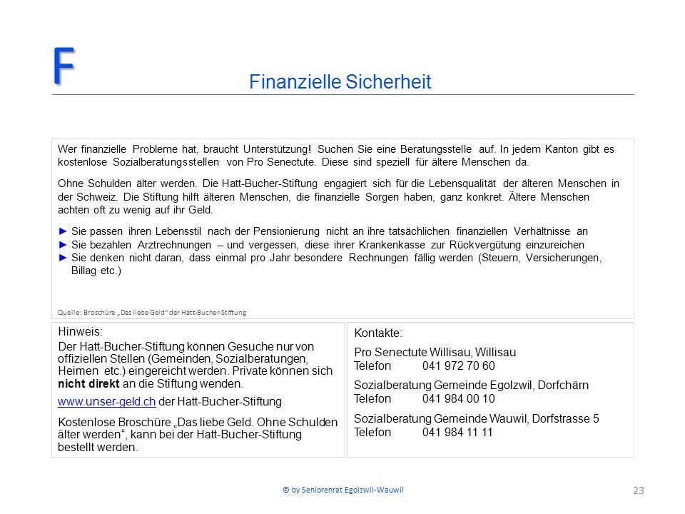 23 Hinweis: Der Hatt-Bucher-Stiftung können Gesuche nur von offiziellen Stellen (Gemeinden, Sozialberatungen, Heimen etc.) eingereicht werden. Private