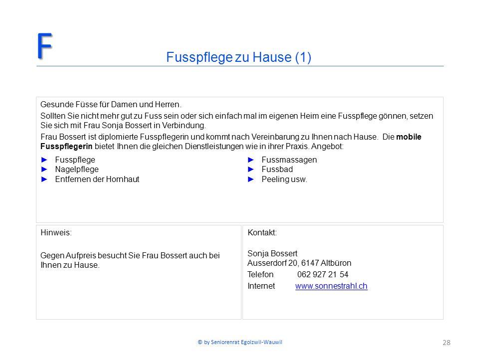 28 Fusspflege zu Hause (1)F Gesunde Füsse für Damen und Herren.