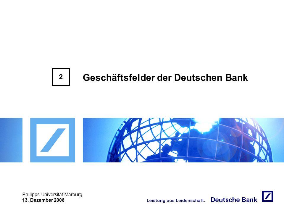 """Achtung! Präsentation nicht toggeln, da sonst Logo """"Passion to perform"""" erneut eingefügt wird. Philipps-Universität-Marburg 13. Dezember 2006 Geschäft"""