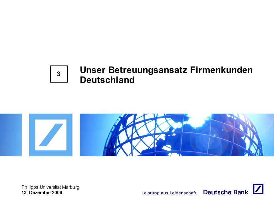 """Achtung! Präsentation nicht toggeln, da sonst Logo """"Passion to perform"""" erneut eingefügt wird. Philipps-Universität-Marburg 13. Dezember 2006 Unser Be"""