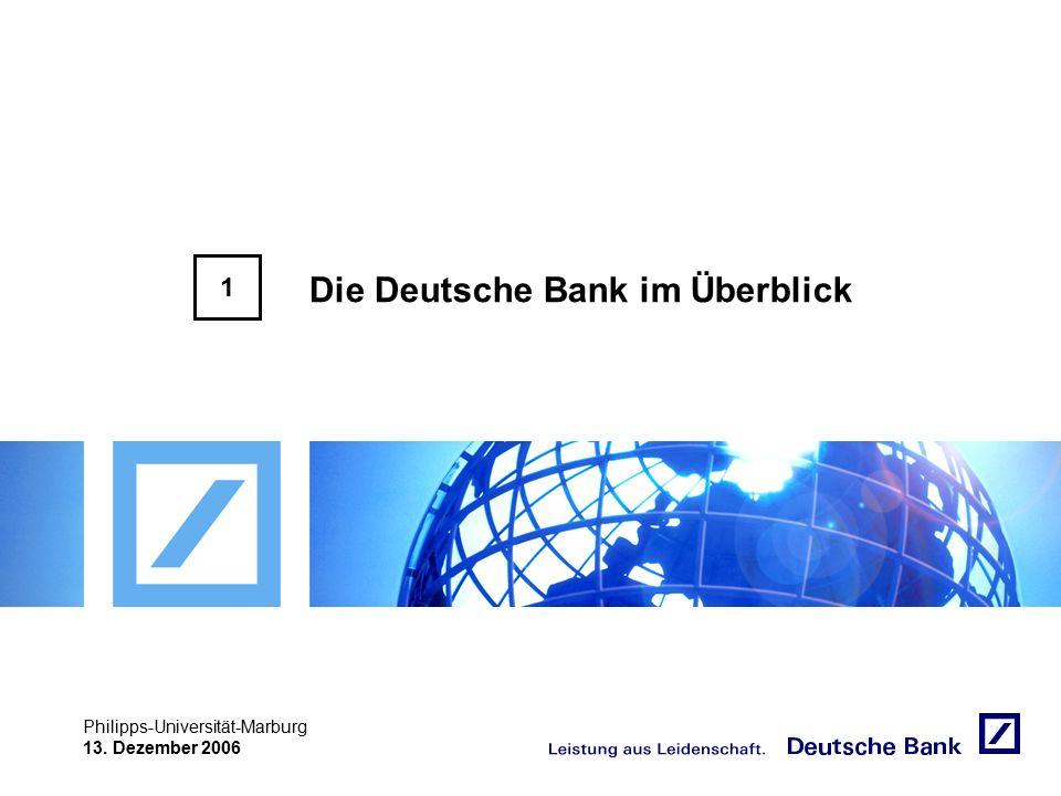 """Achtung! Präsentation nicht toggeln, da sonst Logo """"Passion to perform"""" erneut eingefügt wird. Philipps-Universität-Marburg 13. Dezember 2006 Die Deut"""