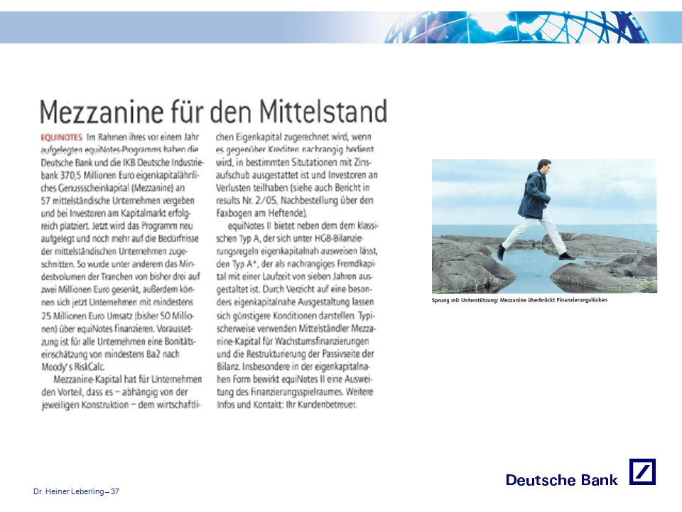 """Dr. Heiner Leberling – 37 Achtung! Präsentation nicht toggeln, da sonst Logo """"Passion to perform"""" erneut eingefügt wird."""