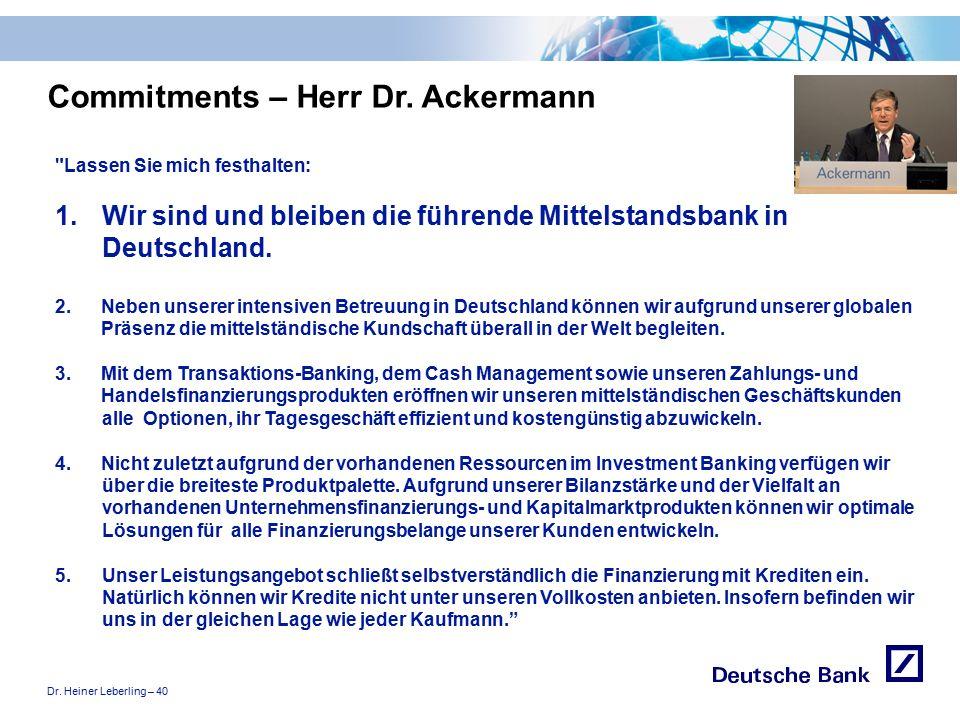 """Dr. Heiner Leberling – 40 Achtung! Präsentation nicht toggeln, da sonst Logo """"Passion to perform"""" erneut eingefügt wird."""