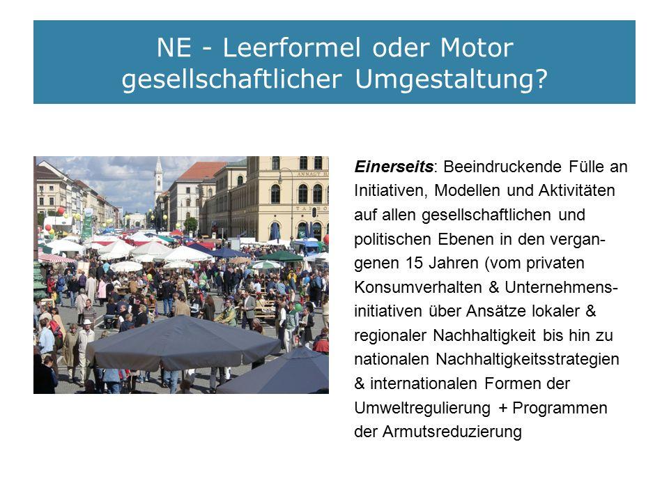 NE - Leerformel oder Motor gesellschaftlicher Umgestaltung.