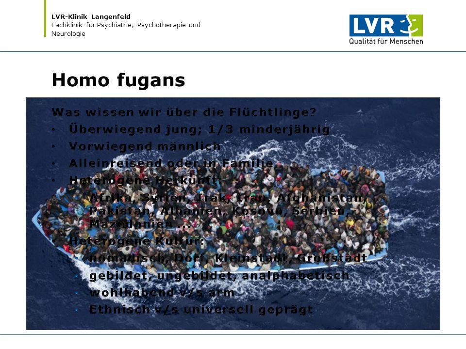 LVR-Klinik Langenfeld Fachklinik für Psychiatrie, Psychotherapie und Neurologie Homo fugans