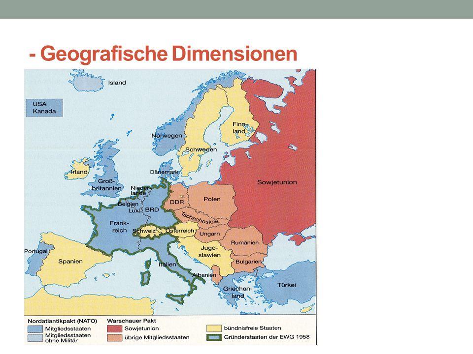 - Geografische Dimensionen