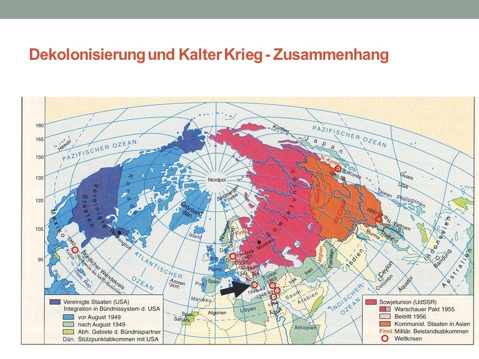 Dekolonisierung und Kalter Krieg - Zusammenhang