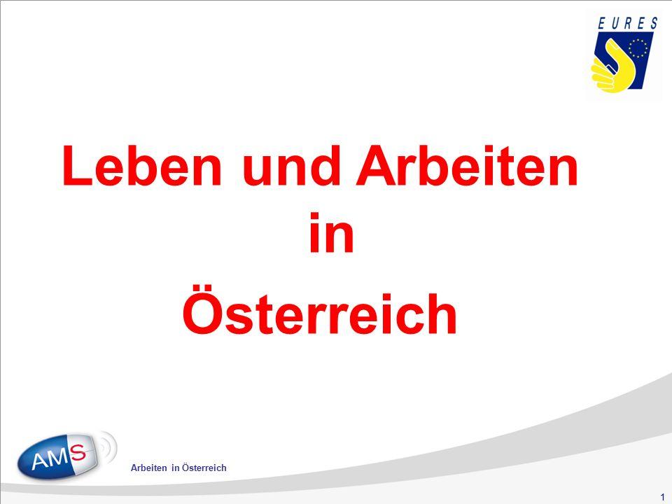 22 Arbeiten in Österreich Kranken- versicherung 3,83 Unfall- versicherung 1,40 Pensions- versicherung 12,55 10,25 Arbeitslosen- versicherung 3,00 Arbeiterkammer- umlage 0,50 Wohnbau- förderungsbeitrag 0,50 Beitrag zur innerbetr.