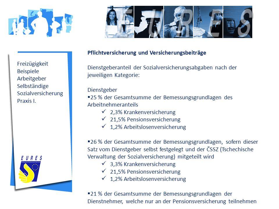 Freizügigkeit Beispiele Arbeitgeber Selbständige Sozialversicherung Praxis I.