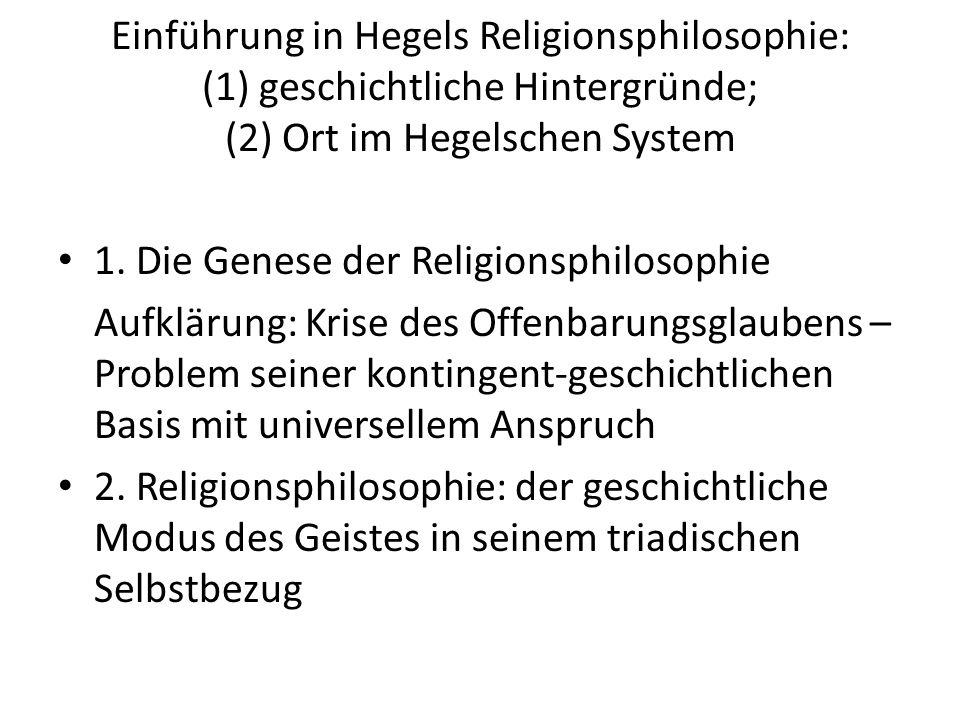 "Religion in Hegels ""Theol.Jugendschriften 1907 hg."
