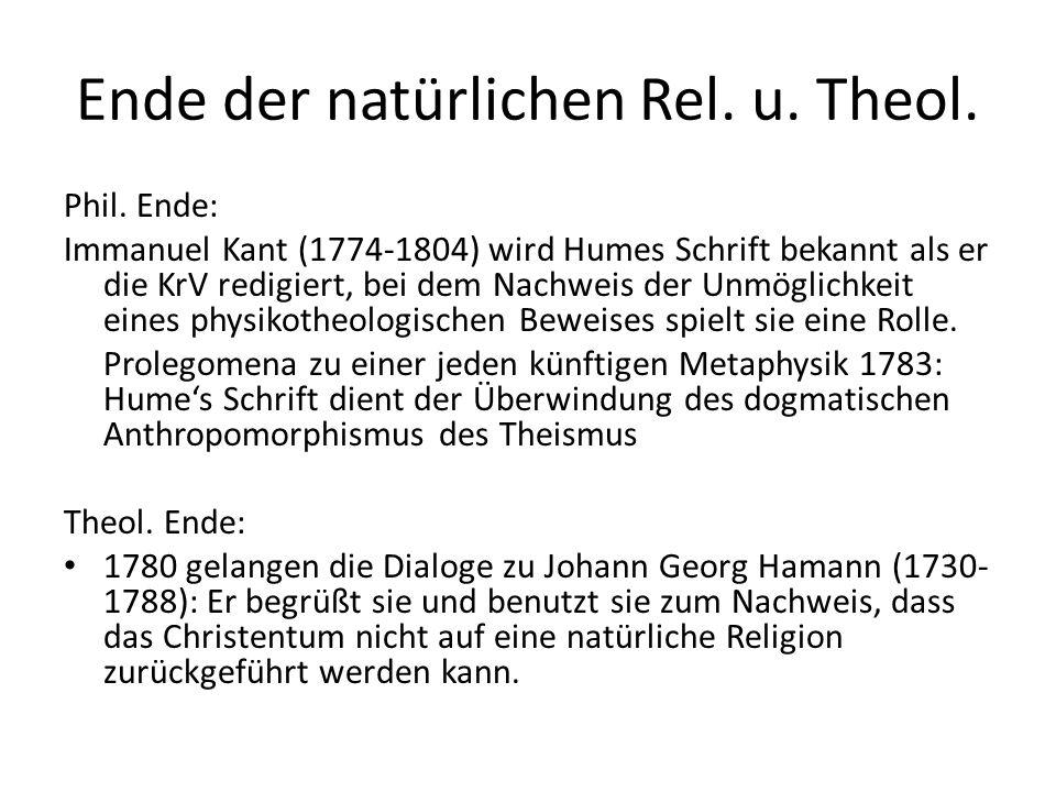Stellung der Religionsphilosophie im System 1.